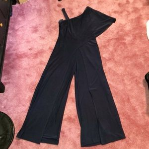 Roz & Ali Navy blue jumpsuit